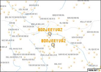 map of Borj-e 'Eyvaẕ