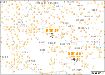 map of Borje
