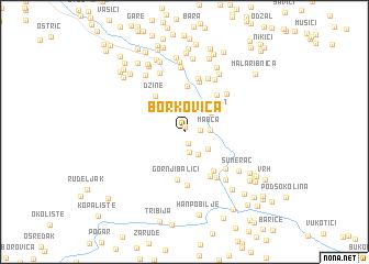 map of Borkovica