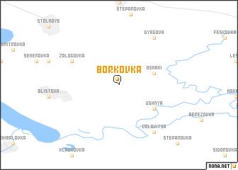 map of Borkovka
