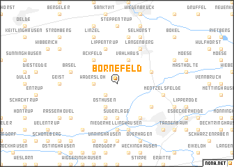 map of Bornefeld