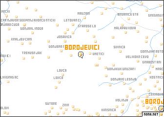 map of Borojevići