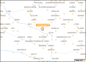 map of Boronów