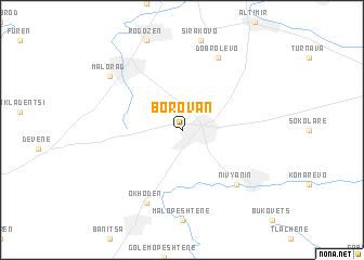 map of Borovan