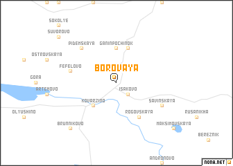 map of Borovaya