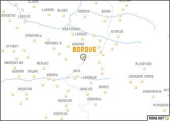 map of Borovë