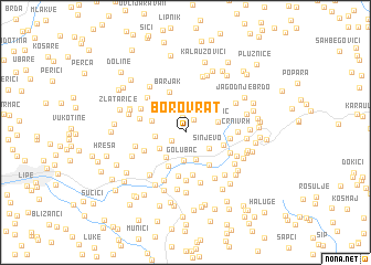 map of Borovrat