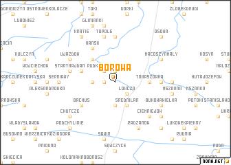 map of Borowa