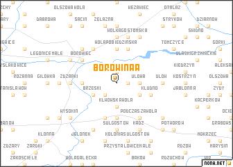 map of Borowina A