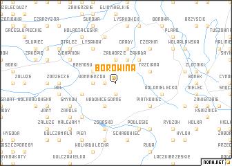 map of Borowina