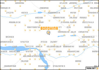 map of Borowina