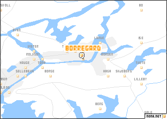 map of Borregård