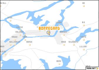 map of Borregård