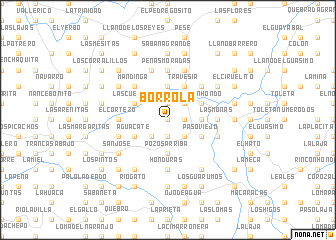 map of Borrola