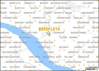 map of Borsfleth