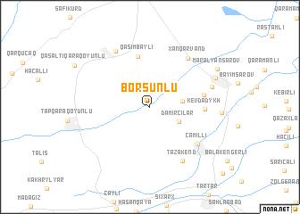 map of Borsunlu