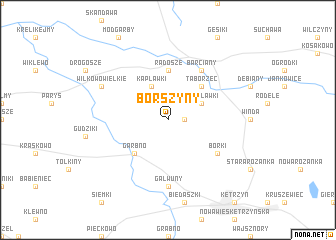 map of Borszyny
