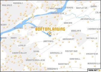 map of Borton Landing