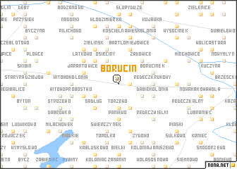 map of Borucin