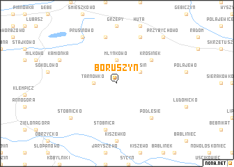 map of Boruszyn