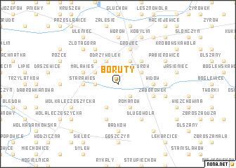map of Boruty