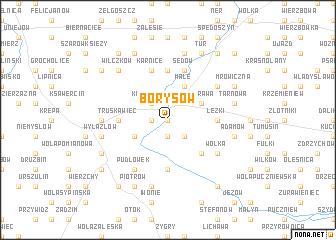 map of Borysów