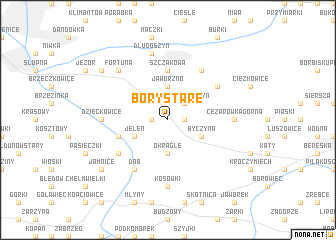 map of Bory Stare