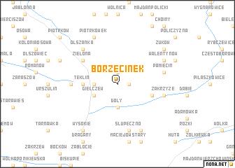 map of Borzęcinek