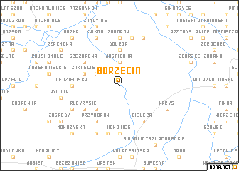 map of Borzęcin