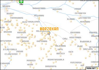 map of Borzekān