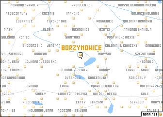 map of Borzymowice