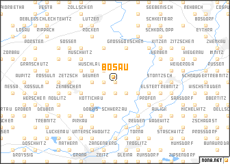 map of Bösau