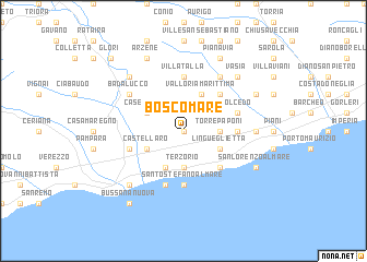 map of Boscomare