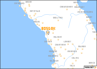 map of Bosdak