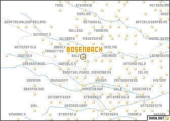 map of Bösenbach
