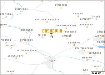 map of Boshëvka