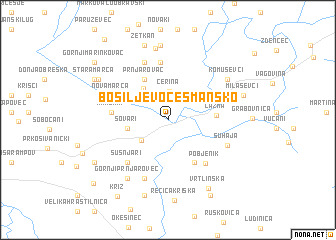 map of Bosiljevo Česmansko