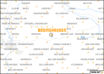 map of Bösinghausen