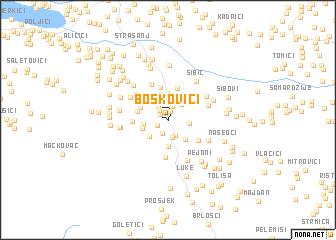 map of Boškovići
