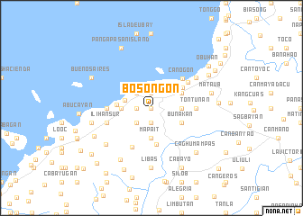 map of Bosongon