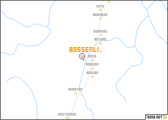 map of Bossenli