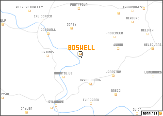 map of Boswell