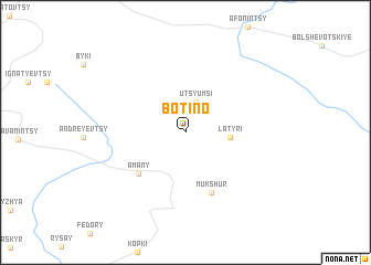 map of Botino