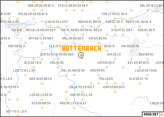 map of Bottenbach