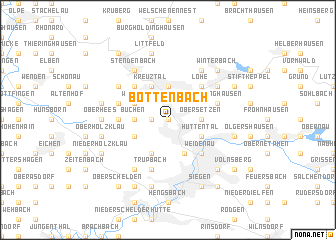 map of Bottenbach
