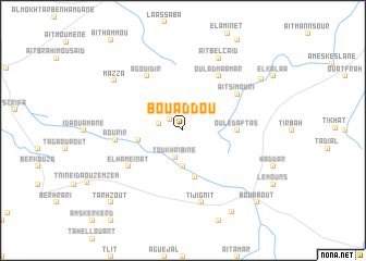 map of Bou Addou