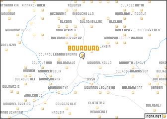 map of Bou Aouad