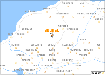 map of Bou 'Asli