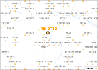 map of Bou Atta