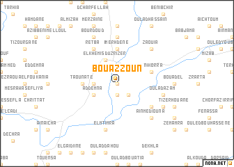 map of Bouazzoun